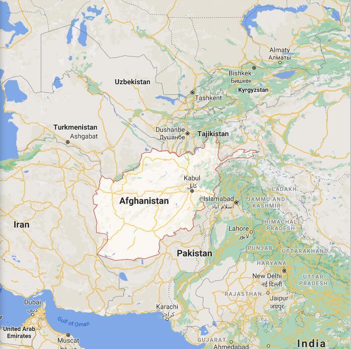 Afghanistan Border Map