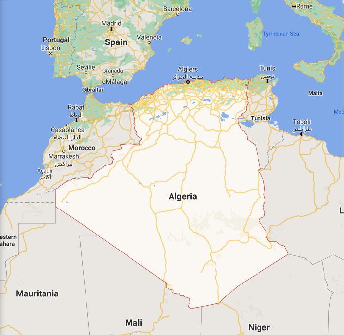 Algeria Border Map