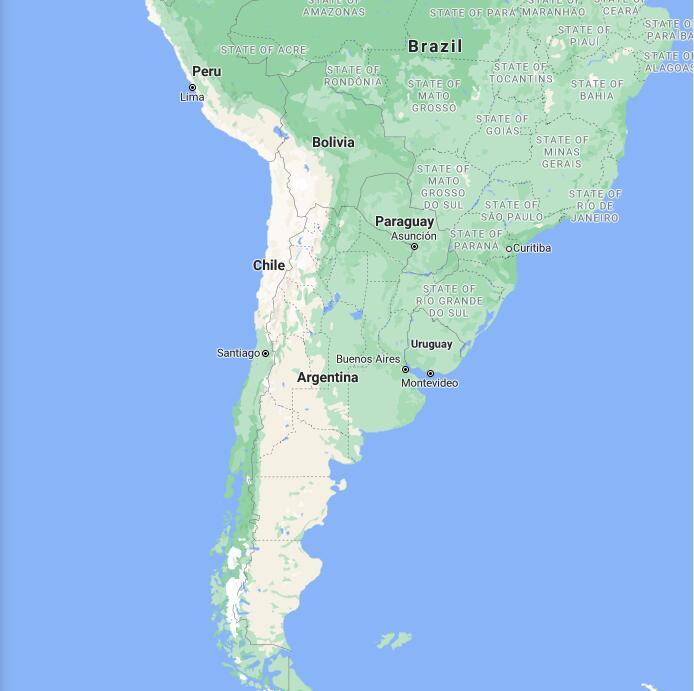 Argentina Border Map