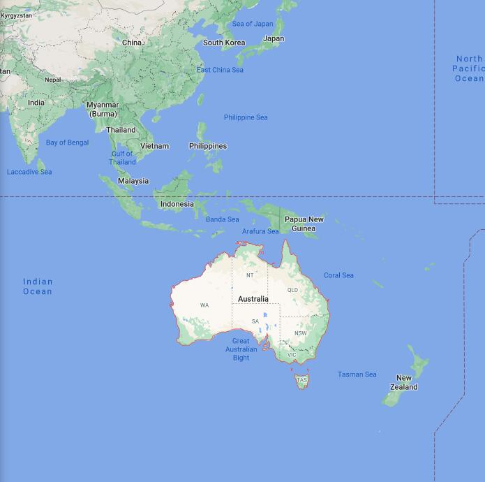 Australia Border Map
