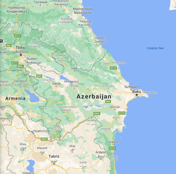 Azerbaijan Border Map