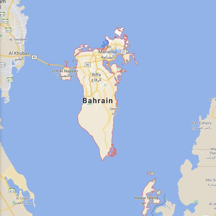 Bahrain Border Map