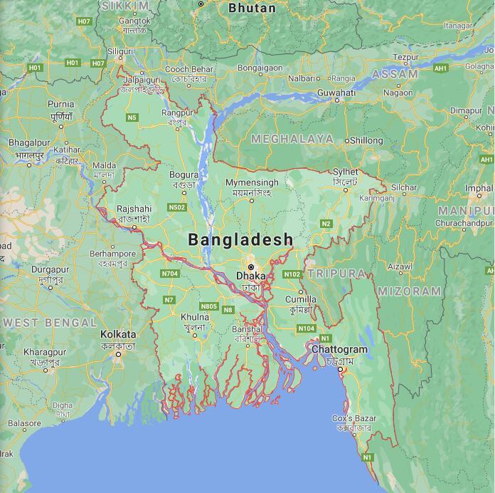 Bangladesh Border Map