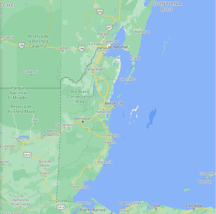 Belize Border Map