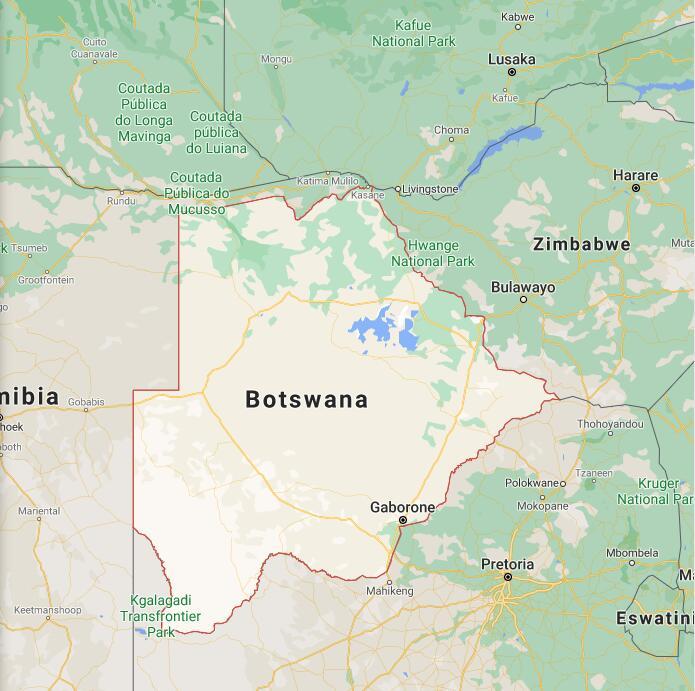 Botswana Border Map