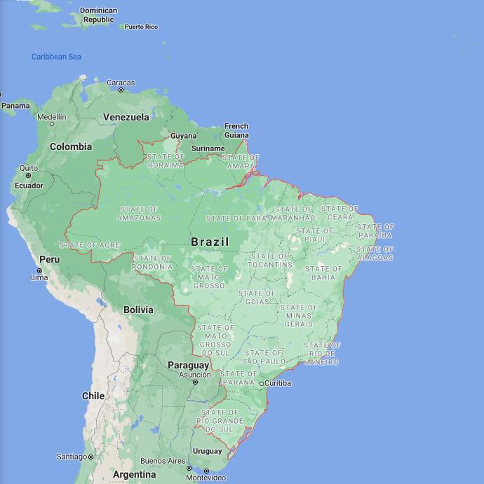 Brazil Border Map