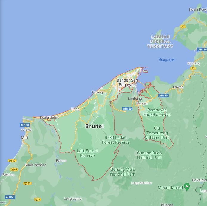 Brunei Border Map
