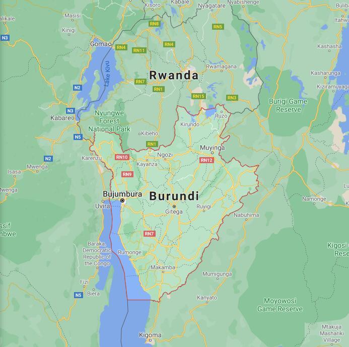 Burundi Border Map