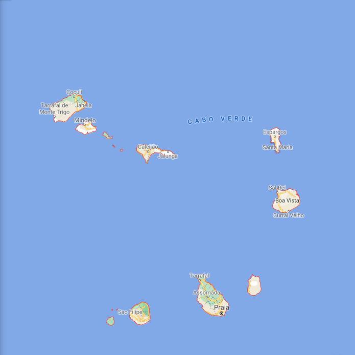 Cabo Verde Border Map