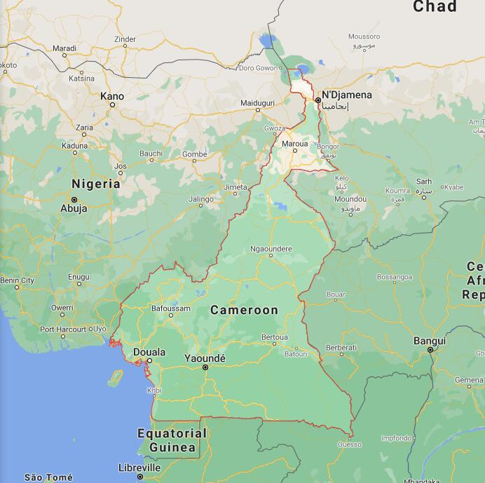 Cameroon Border Map