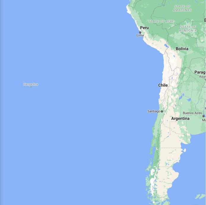 Chile Border Map
