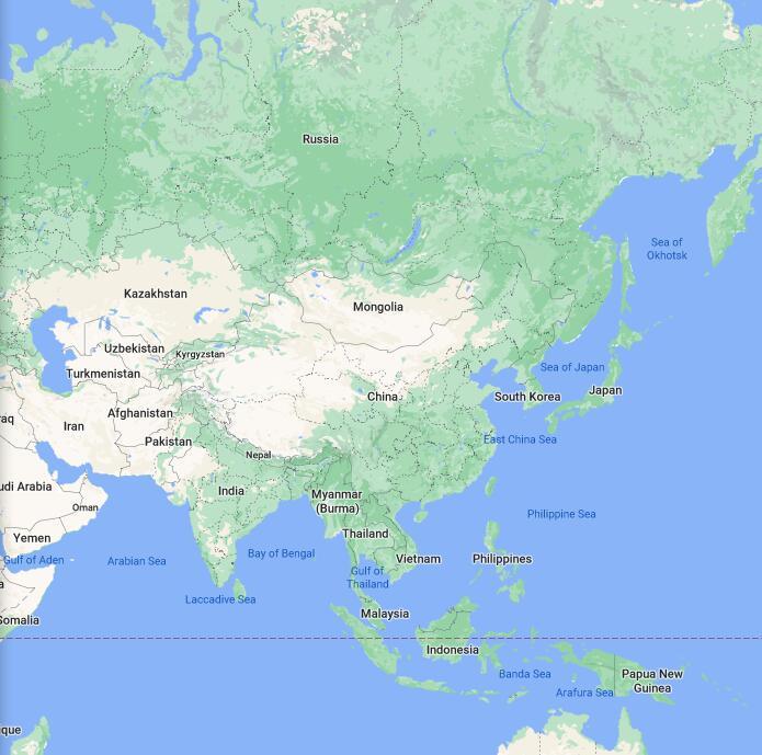 China Border Map