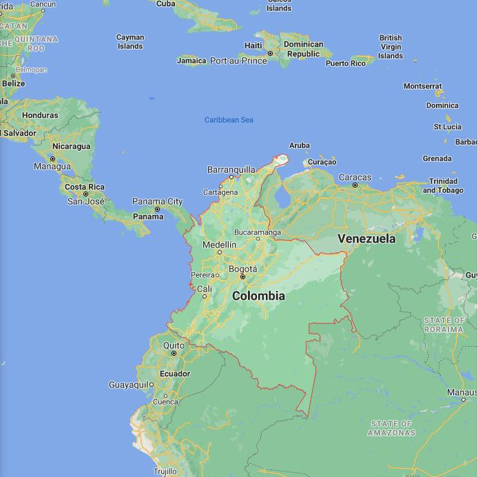 Colombia Border Map
