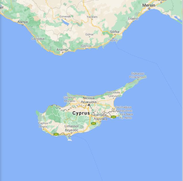 Cyprus Border Map