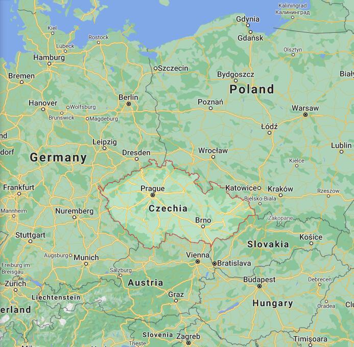 Czech Republic Border Map