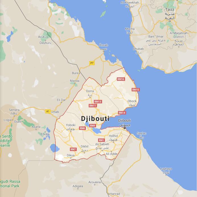 Djibouti Border Map