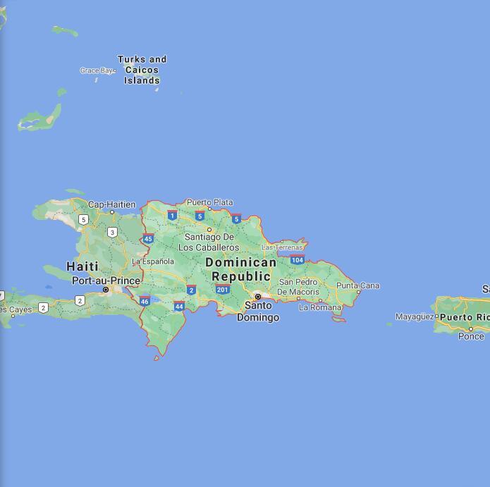 Dominican Republic Border Map