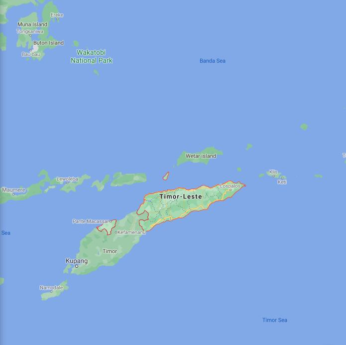 East Timor Border Map