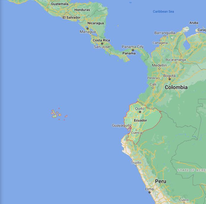 Ecuador Border Map