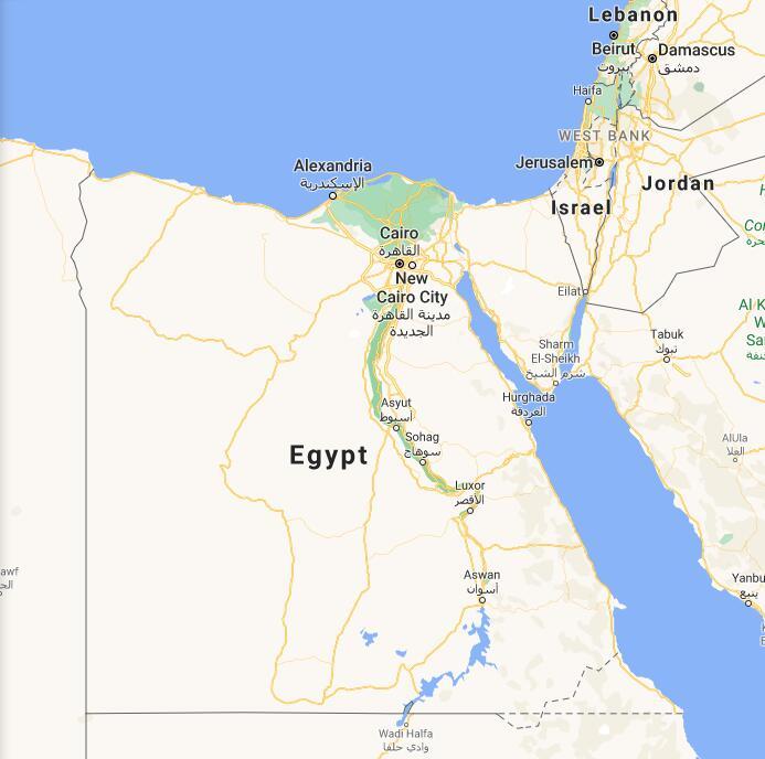 Egypt Border Map
