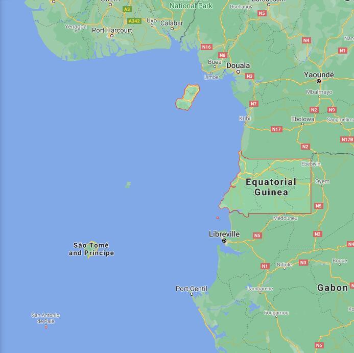 Equatorial Guinea Border Map
