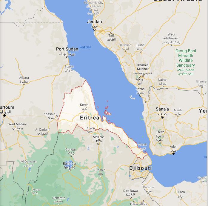 Eritrea Border Map
