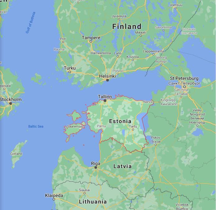 Estonia Border Map