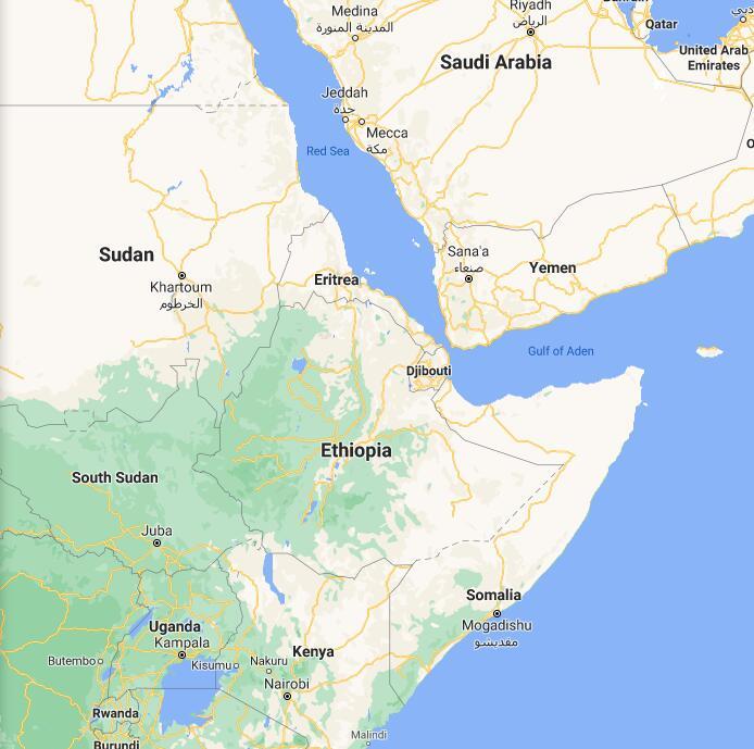 Ethiopia Border Map