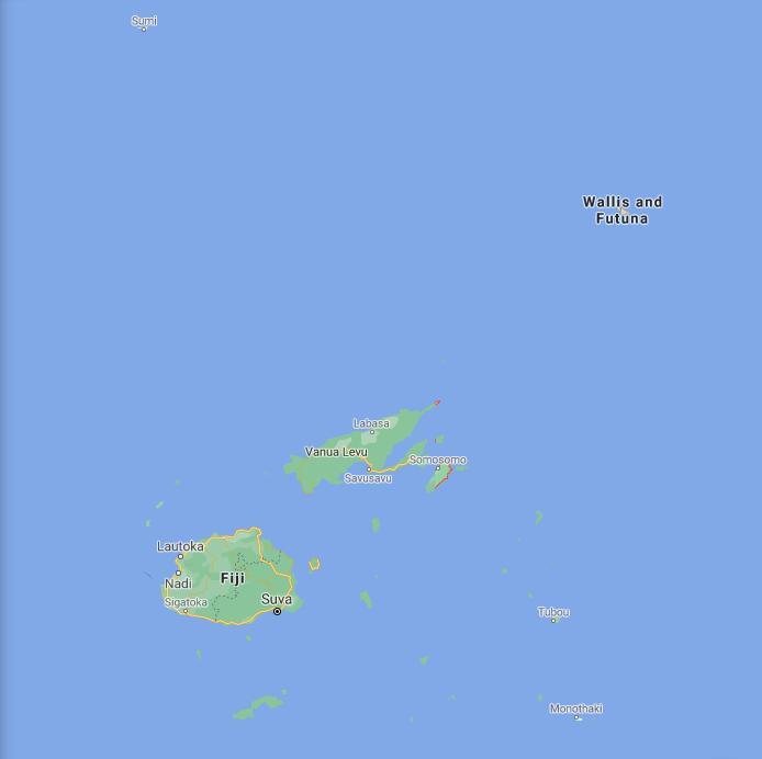 Fiji Border Map
