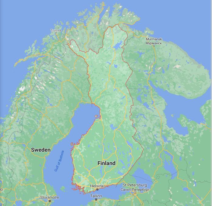 Finland Border Map