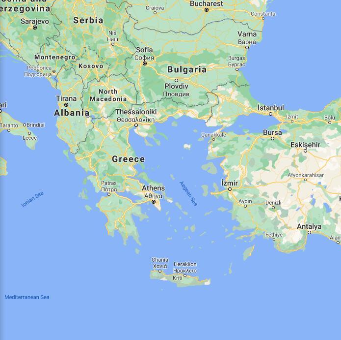 Greece Border Map