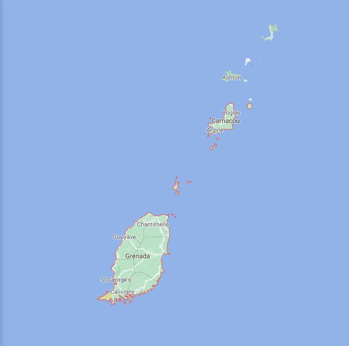 Grenada Border Map