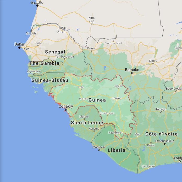Guinea Border Map
