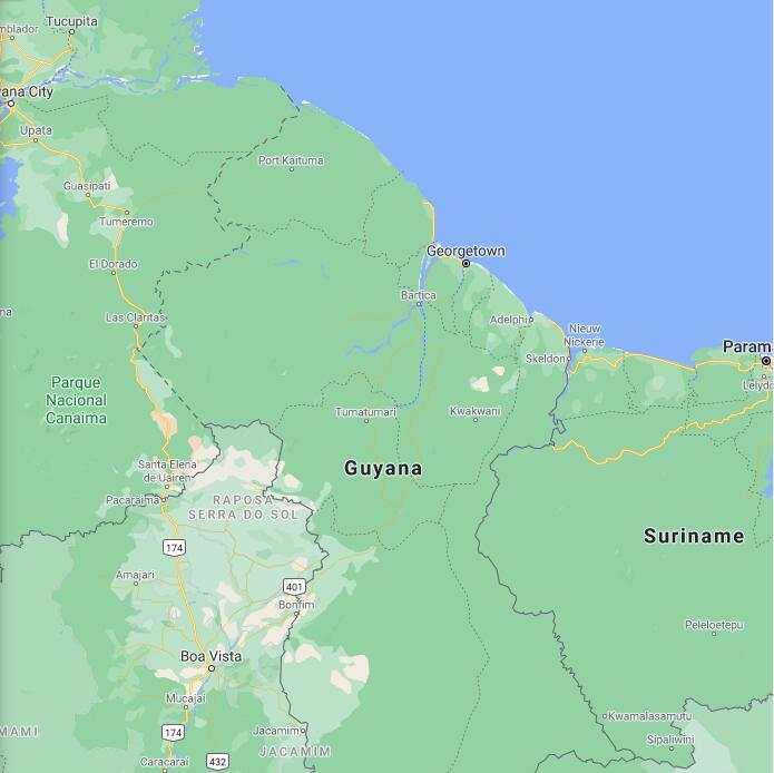 Guyana Border Map