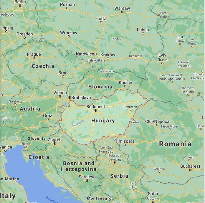 Hungary Border Map