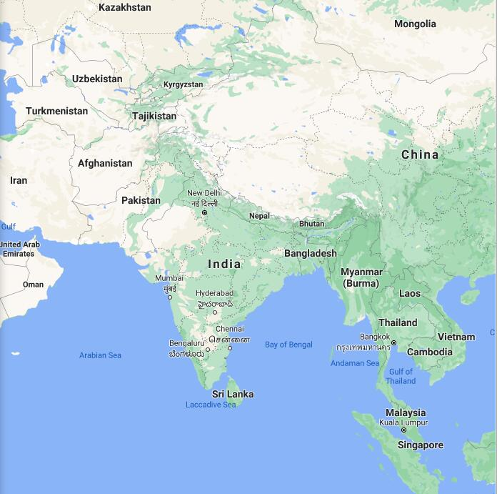 India Border Map