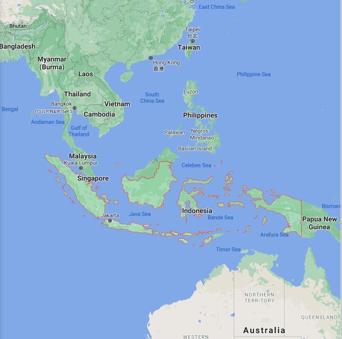 Indonesia Border Map