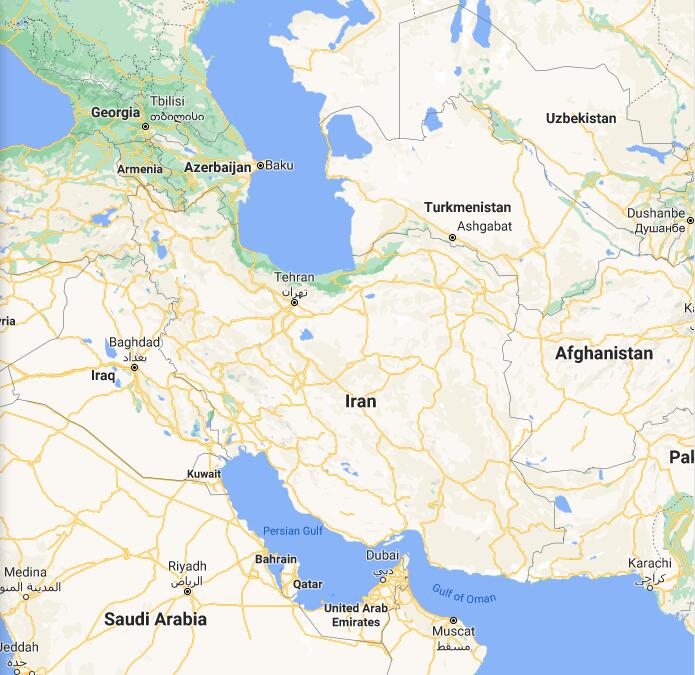 Iran Border Map