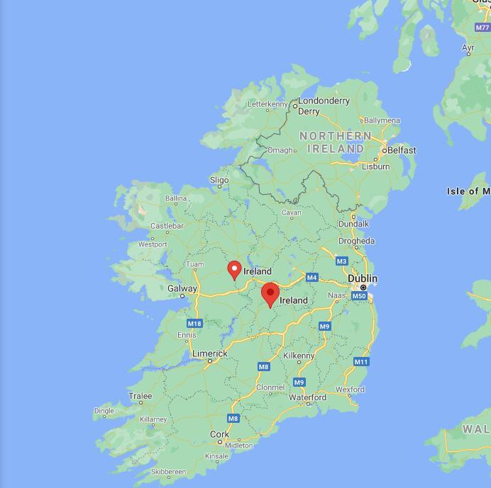 Ireland Border Map