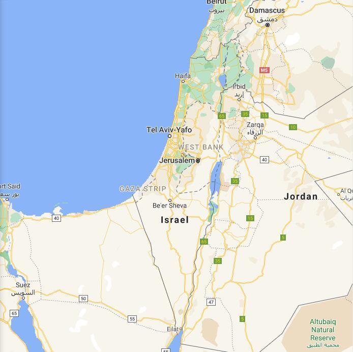 Israel Border Map