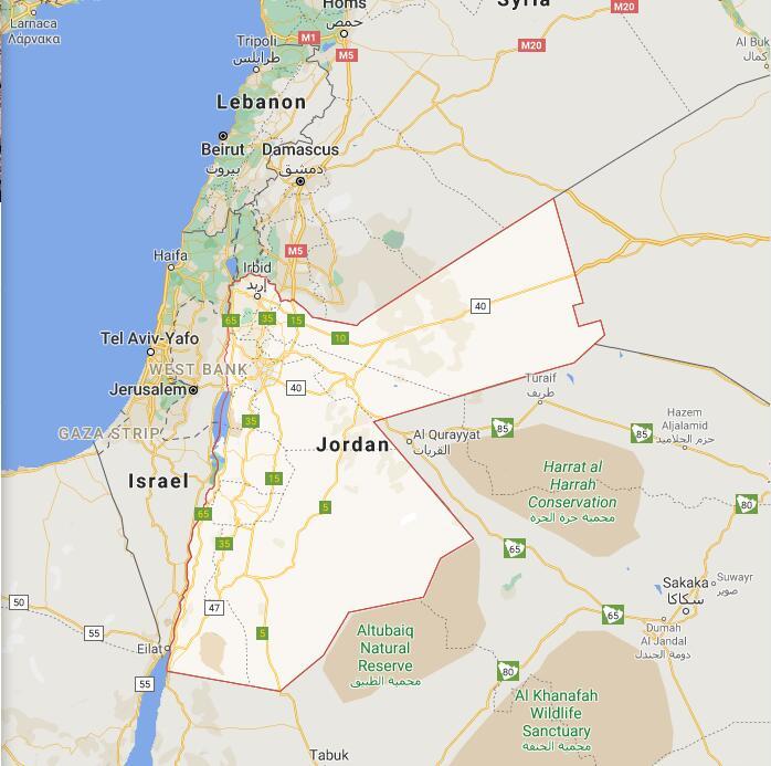Jordan Border Map