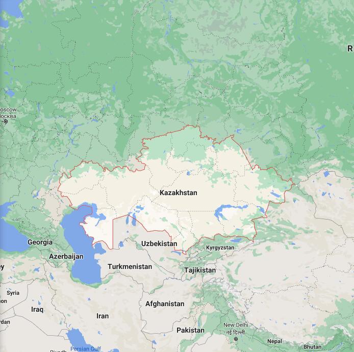 Kazakhstan Border Map