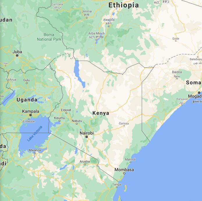 Kenya Border Map
