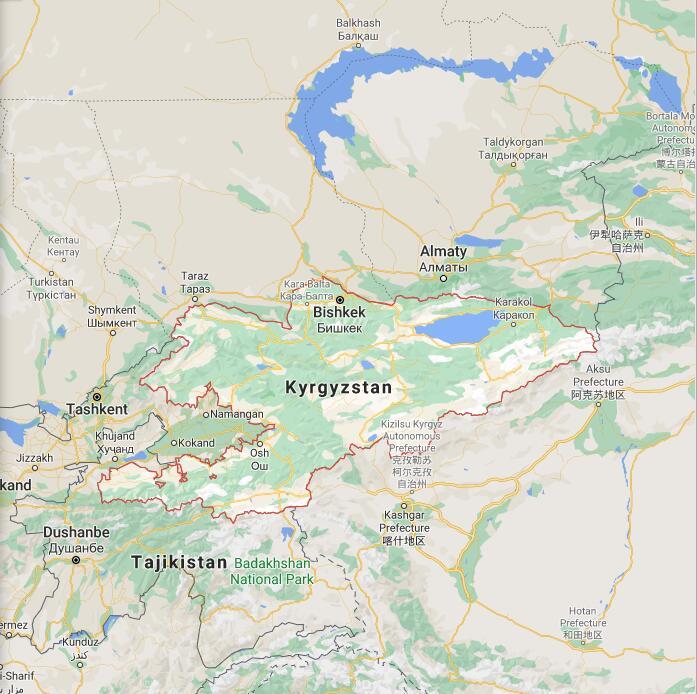 Kyrgyzstan Border Map