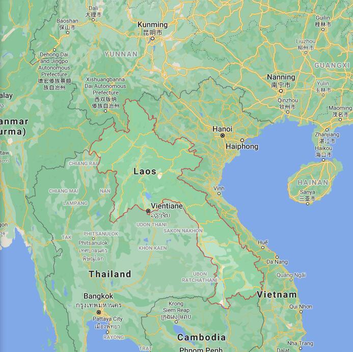 Laos Border Map