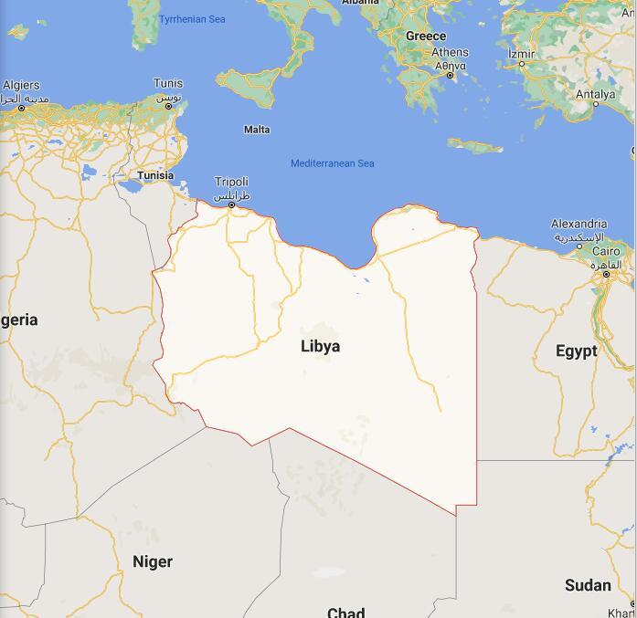 Libya Border Map