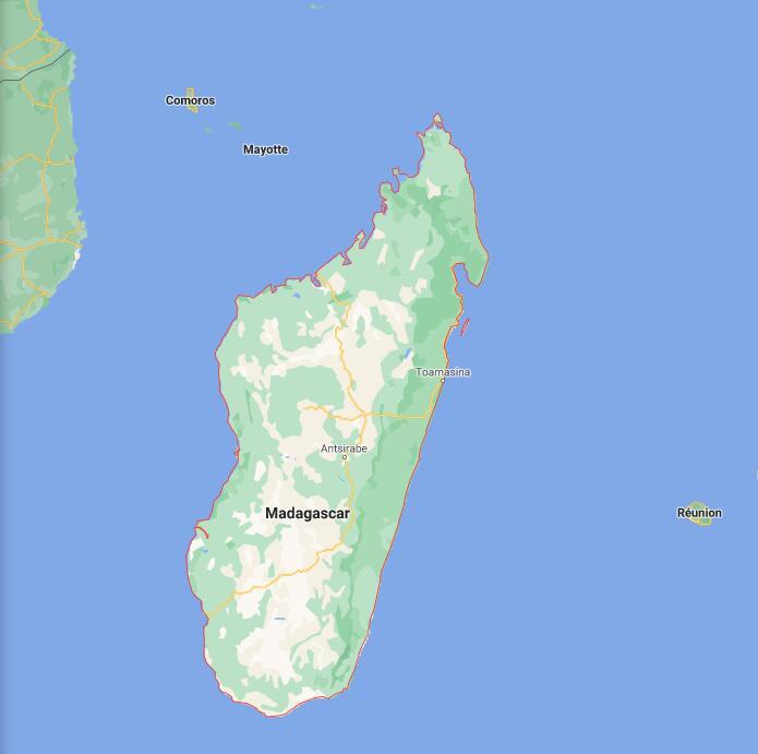 Madagascar Border Map