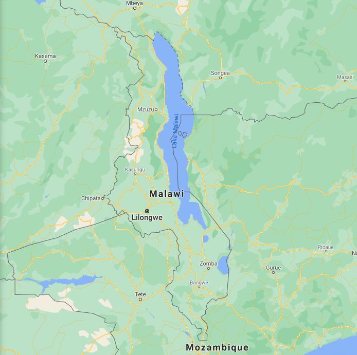 Malawi Border Map