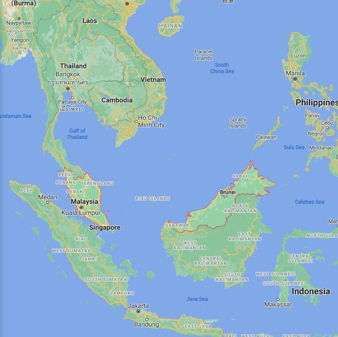 Malaysia Border Map