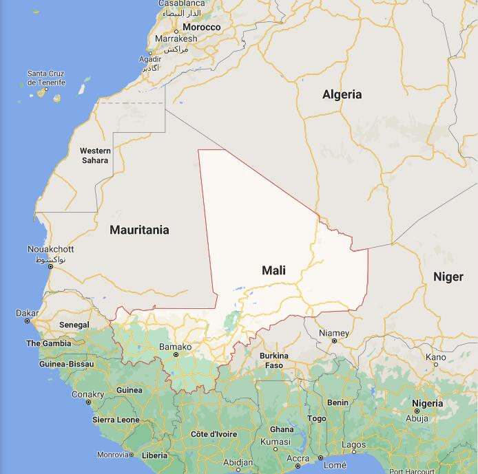 Mali Border Map